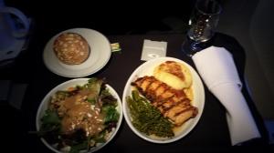 First class flight meal